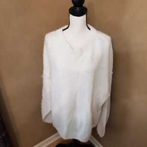 Free People Oversized Ivory Sweater in M